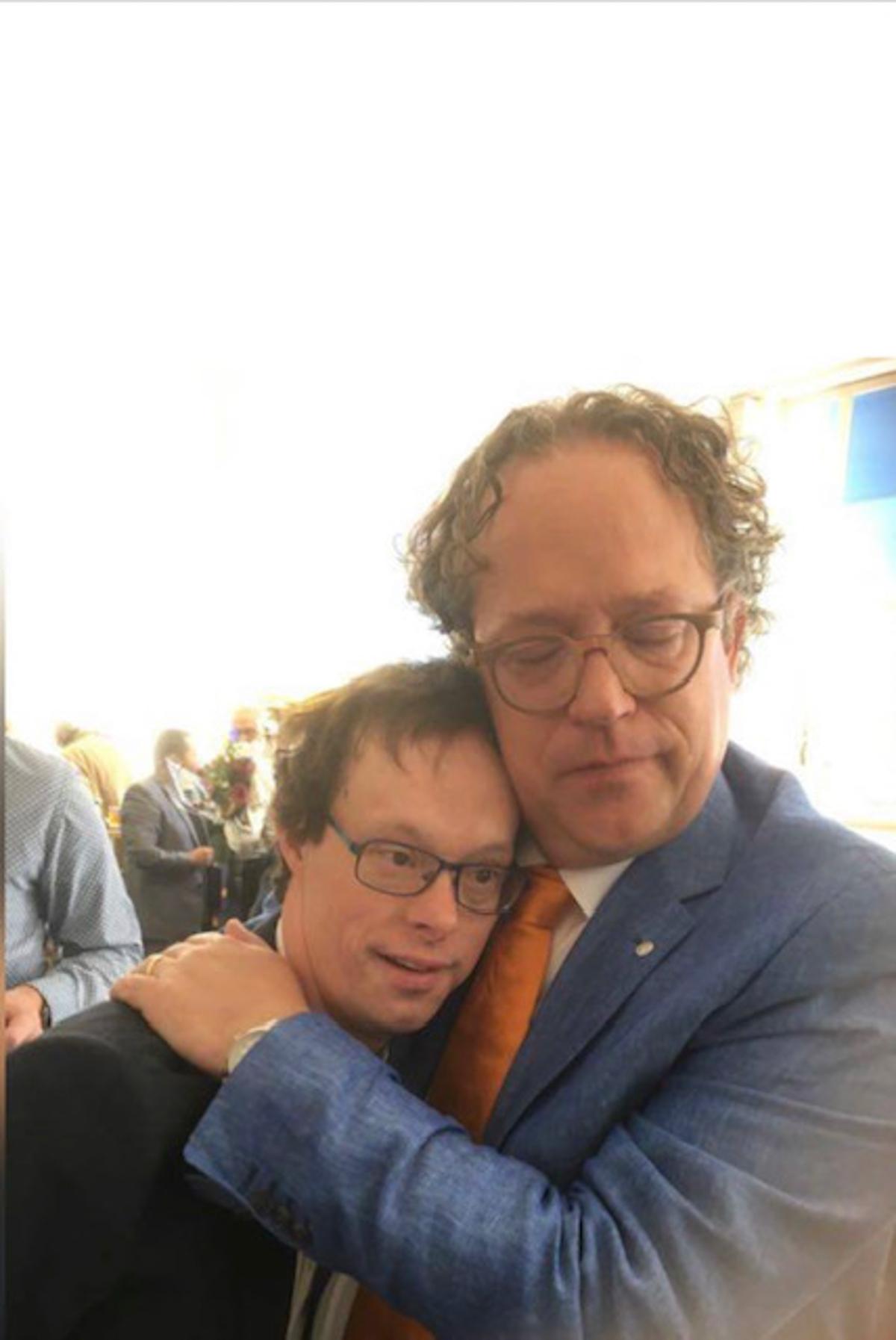 Maarten Wessels met Derk 1